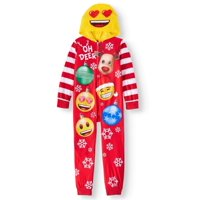 b0816d5d3738e Product Image Emoji Girls' Onesie Sleeper Pajama