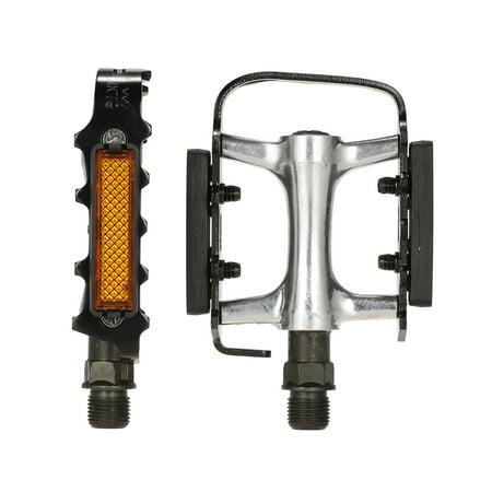 "Wellgo Cycling Aluminum Alloy Bicycle Road Bike MTB BMX Bike 9/16"" Threaded DU Bearing Flat Pedals Bike Gear Strong Foot"