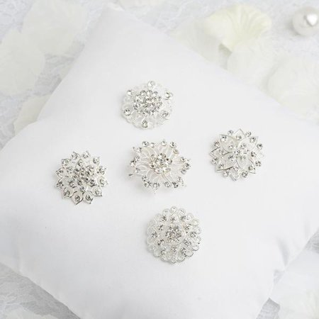 Efavormart 5 Pcs Assorted Mandala Crystal Rhinestone Brooches Floral Sash Pin Brooch