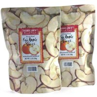 2-Pack Trader Joe's Freeze Dried Fuji Apple Slices Fruit Unsweetened Snack
