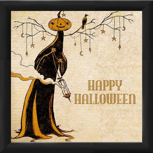 PTM Images Halloween ''Happy Halloween'' Framed Vintage Advertisement