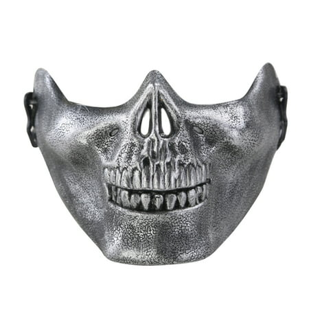 Adult Chieftain Skull Half Face Mask for Masquerade Party - Texas Chainsaw Massacre Mask For Sale
