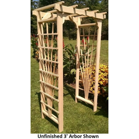 Backyard Crafts Linden Leaf Stained Concord Pine Arbor - 3 Feet (Southern Long Leaf Pine)