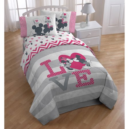 Disney Mickey Minnie Mouse Love Microfiber Twin Comforter
