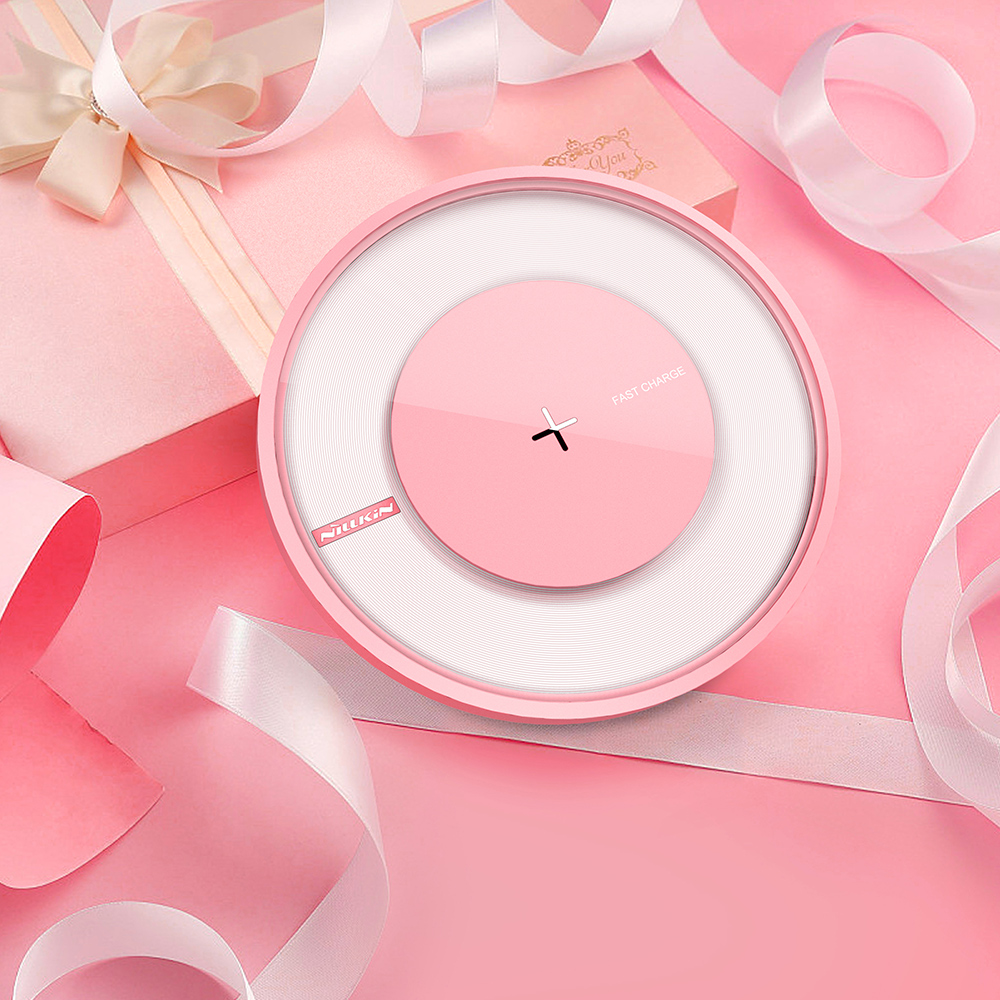 10W Wireless Charger, Qi-Certified Wireless Charging Pad, 10W Fast-Charging Galaxy S9/S9+/S8/S8+/Note 9/8 and More, Standard Charging iPhone Xs/Xs Max/XR/X/8/8+ (Pink)