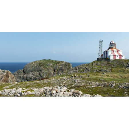 Lighthouse and building along the atlantic coast Bonavista Newfoundland and Labrador Canada PosterPrint