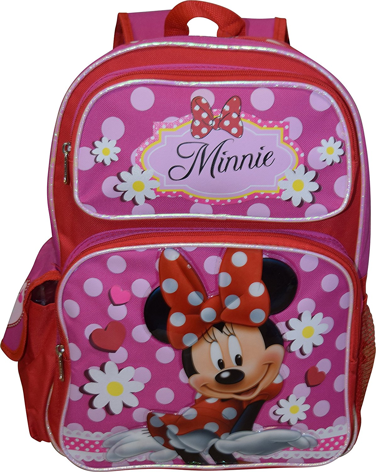 """Disney Girl's 16"""" Deluxe School Bag Backpack, Made of an easy to clean and very durable polyester cordura fabric... by"""