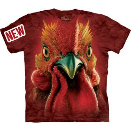 Rooster Head Adult T-Shirt 10-3348