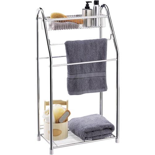 Neu Home Chrome Towel Valet with Basket