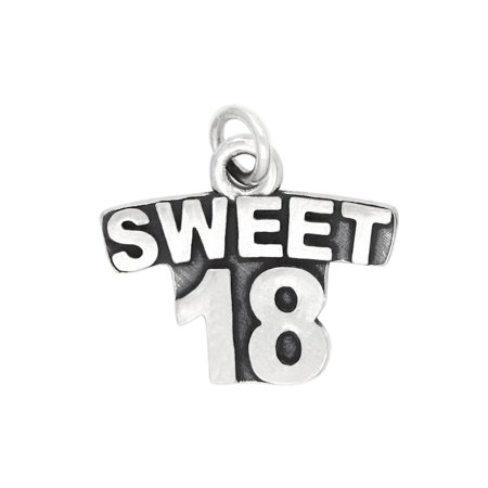International Silver Spring Charm - Sterling Silver Sweet 18 Charm