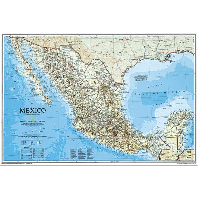 National Geographic RE00602295 Map Of Mexico