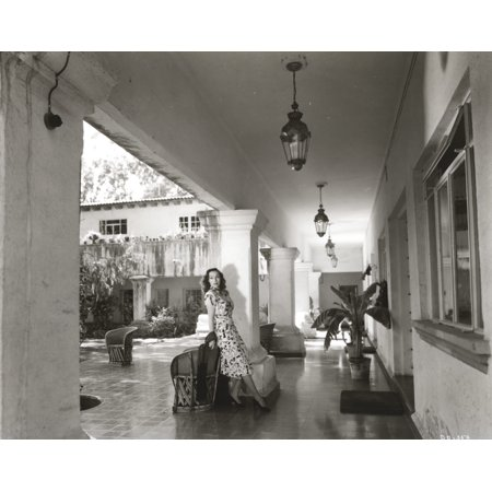 4df521d41 Dolores Del Rio Posed in Black and White Photo Print - Walmart.com