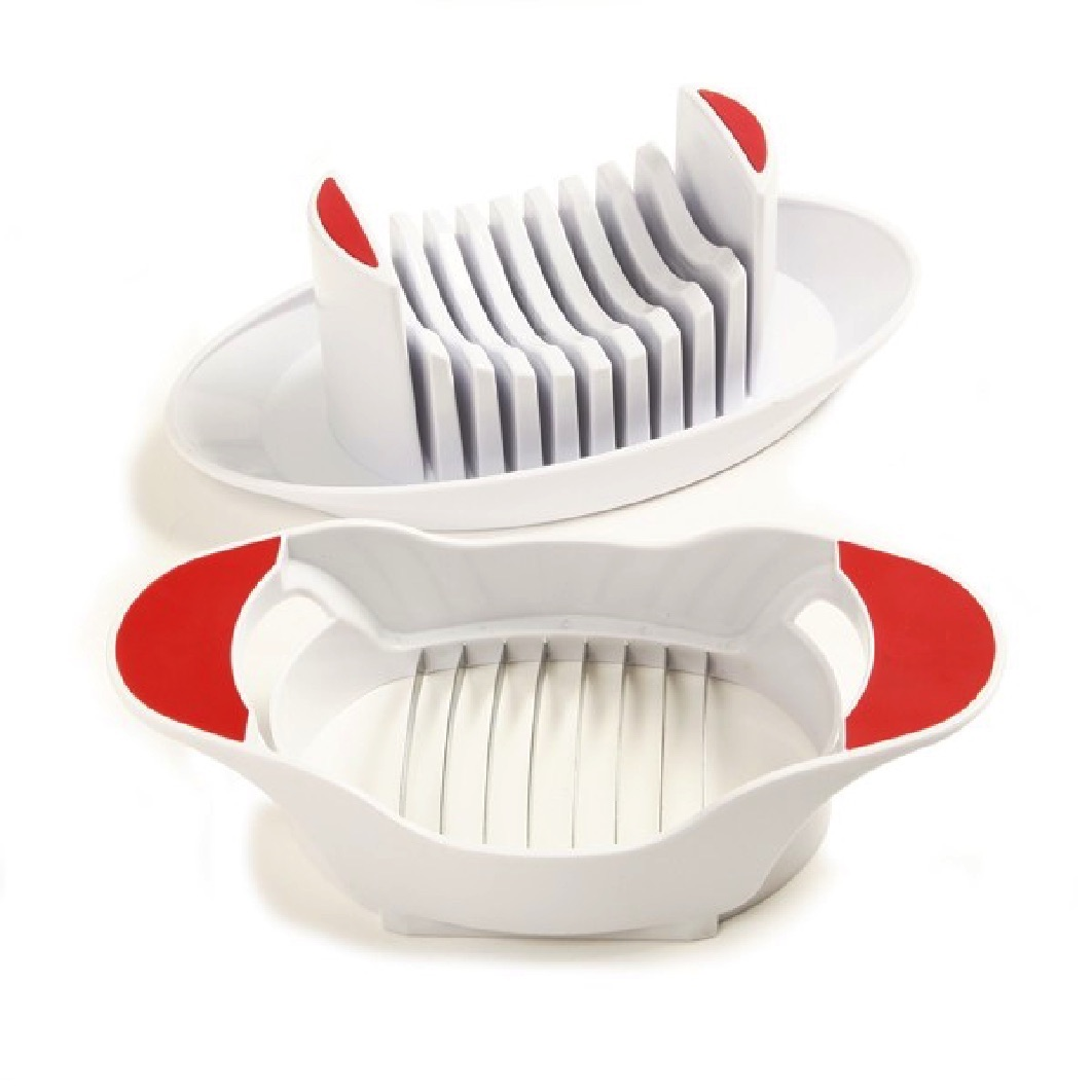 """Norpro Tomato / Soft Cheese Slicer With Dish Durable Plastic 8"""" X 3"""" X 4.5"""" 312"""