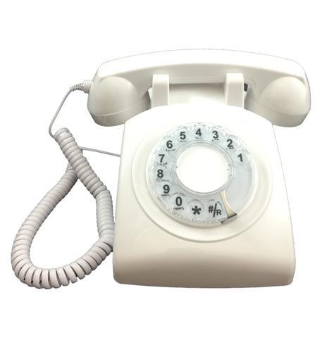 Cortelco 500WHT Rotary Phone White