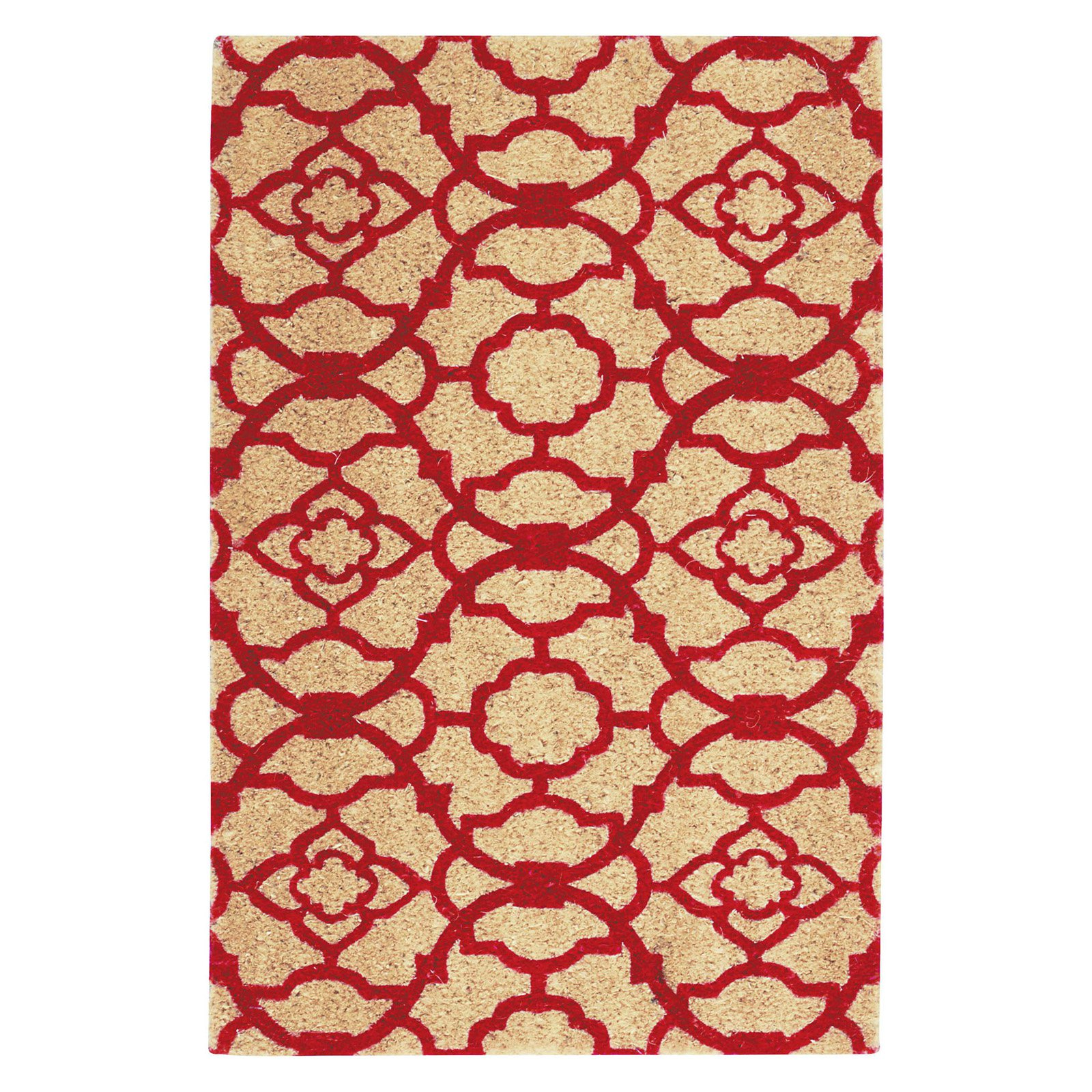 "Waverly Greetings ""Lovely Lattice"" Red Doormat by Nourison"