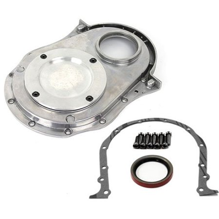 Speedmaster PCE265.1021 Polished Aluminum 2-Piece Timing Chain Cover