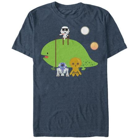Star Wars Mens Cute Cartoon Dewback And Friends T Shirt