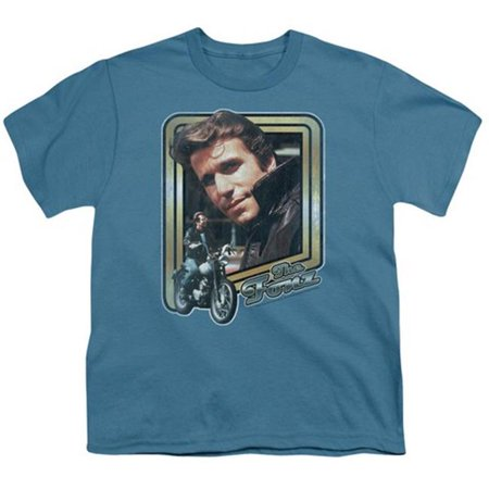 Happy Days-The Fonz - Short Sleeve Youth 18-1 Tee - Slate, Medium - image 1 of 1