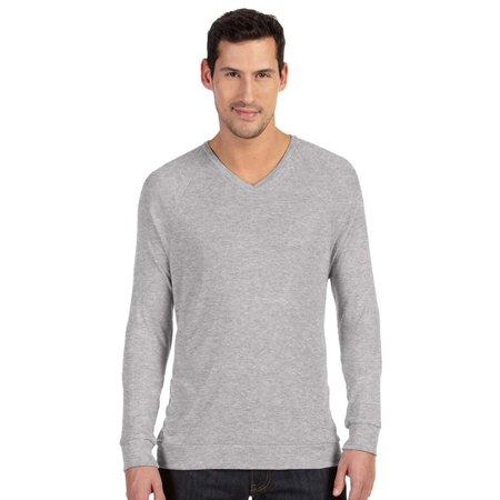 Athletic V-neck Sweatshirt (Bella+Canvas Lightweight V-Neck Pullover Fleece Sweatshirt, Athletic Heather, Small, Style,)