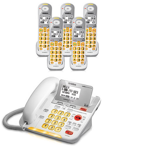 Uniden D3098-5 DECT 6.0 Amplified 5 Handset Phone w  Power Failure Protection & Answering System by Uniden