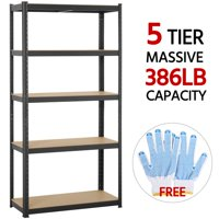 Yaheetech 71'' Metal Storage Rack 5 Adjustable Shelves Boltless Shelving 386LB Capacity for Each Shelf
