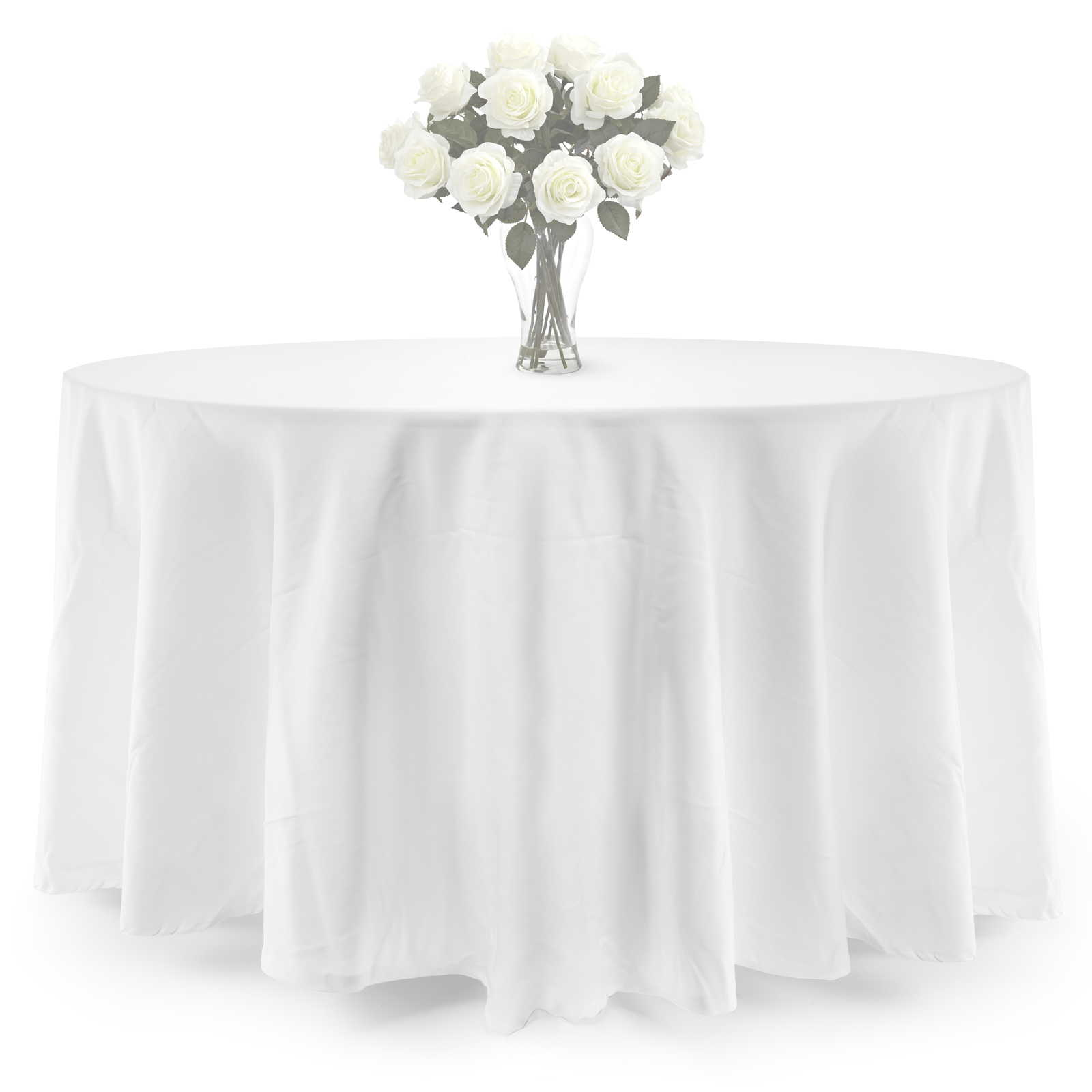 Lanns Linens Round Polyester Tablecloth Covers for Weddings, Banquets, or Restaurants... by Lann's Linens
