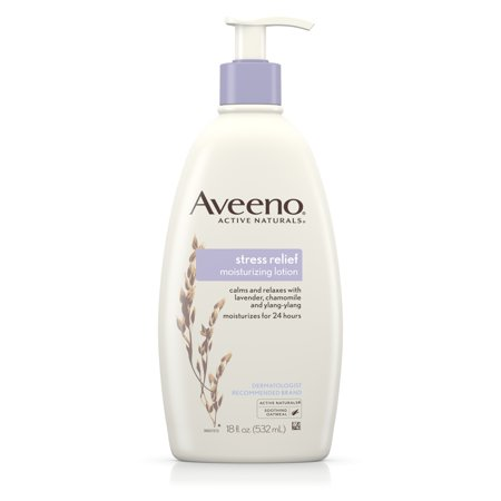 (3 pack) Aveeno Stress Relief Moisturizing Lotion to Calm & Relax, 18 fl. oz