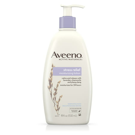 (3 pack) Aveeno Stress Relief Moisturizing Lotion to Calm & Relax, 18 fl. (Lotion 3 Piece Set)