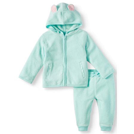 Micro Fleece Hoodie & Pants, 2pc Outfit Set (Baby Girls) - Baby Girl Theme