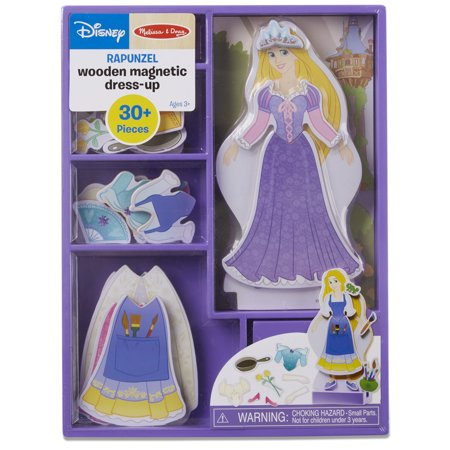 Melissa & Doug Disney Rapunzel Magnetic Dress-Up Wooden Doll Pretend Play Set (30+ pcs)