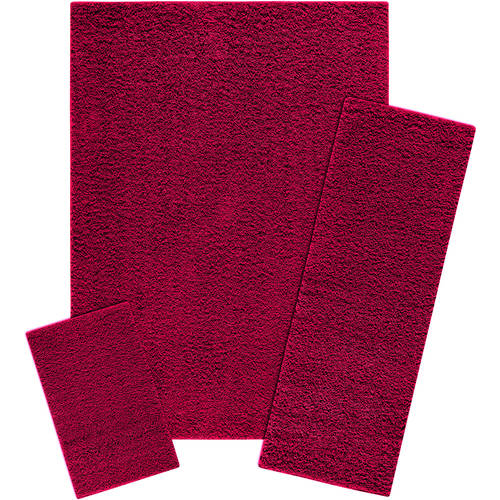 Mainstays Manchester 3-Piece Shag Area Rug Set Available In Multiple Colors