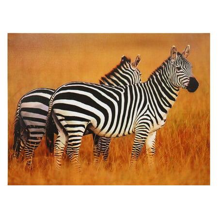 Oriental Furniture Plains Zebras Canvas Wall Art - Oriental Wall Art