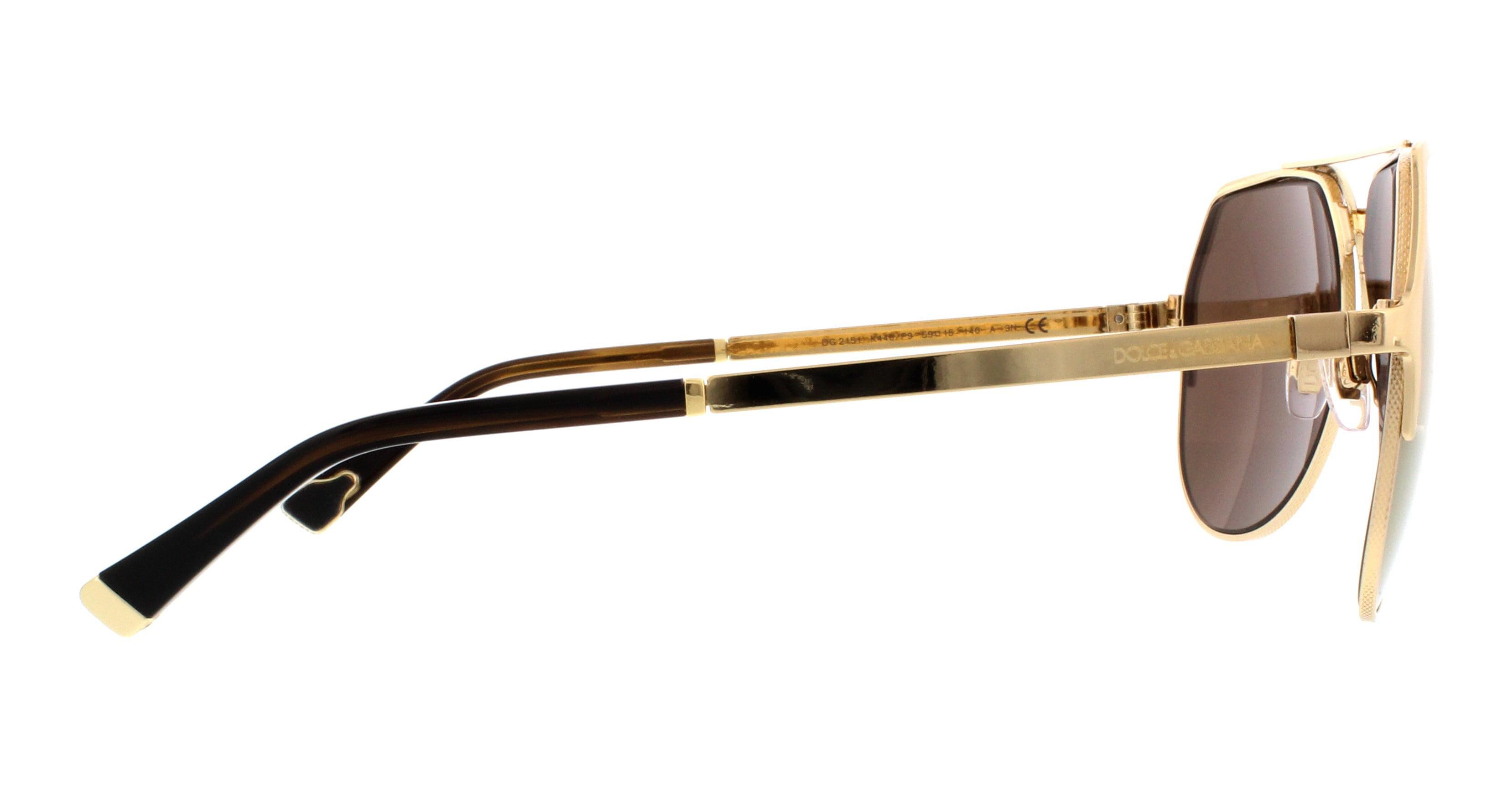 6441217c1 DOLCE & GABBANA - DOLCE & GABBANA Sunglasses DG 2151 K440F9 Gold Plated 18K  59MM - Walmart.com