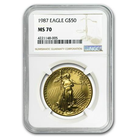Platinum Ngc Coin Set - 1987 1 oz Gold American Eagle MS-70 NGC (Registry Set)