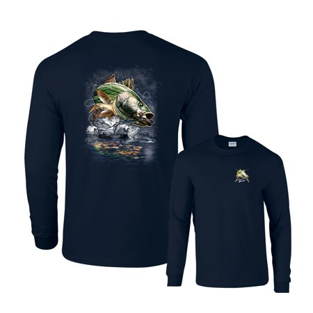 Jumping Striped Bass Fishing Long Sleeve - Striped Base