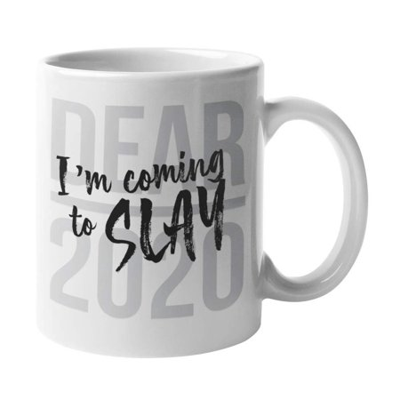 Dear 2020, I'm Coming To Slay! Best Christmas & New Year Coffee & Tea Gift Mug For Coworkers Or Officemates And Good Xmas Gifts, Nice Giveaways & Unique Present Ideas For Office Work Colleagues