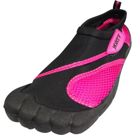 Womens Water Shoes Aqua Socks Surf Yoga Exercise Pool Beach Dance Swim NEW, 38863 Black/Fuchsia / 10B(M)US