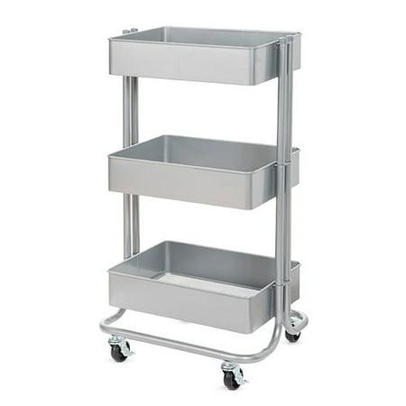 Darice 3 Tier Metal Rolling Cart