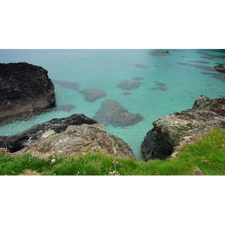 Seaside Rocks - LAMINATED POSTER Rocks Seaside Ocean Nature Sky Sea Landscape Poster Print 24 x 36
