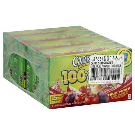 40 PACKS : Capri Sun 100% Juice, Fruit Drive 6-Ounce Pouches](Halloween Capri Sun)