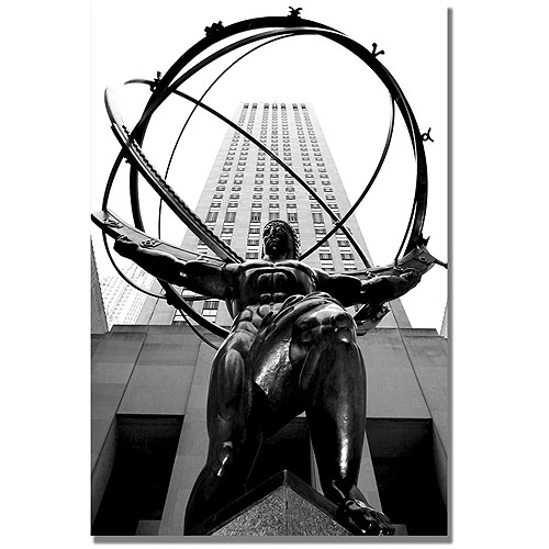 "Trademark Art ""Atlas"" Canvas Wall Art by CATeyes"