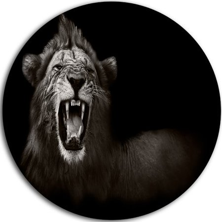 Design Art 'Lion Displaying Fiery Face' Photographic Print on (Face Paint Designs)