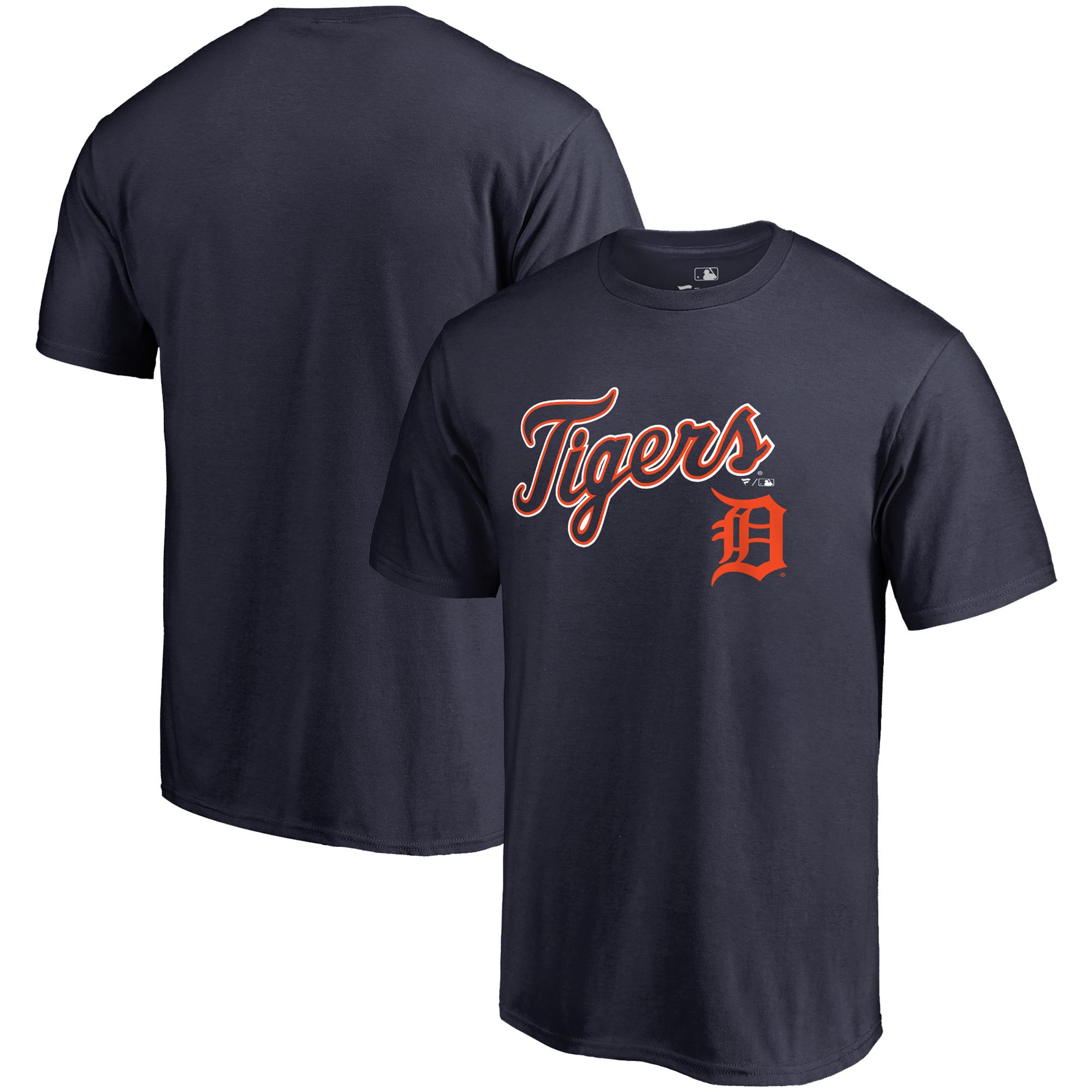 Detroit Tigers Fanatics Branded Team Lockup T-Shirt - Navy