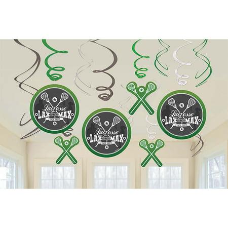 Lacrosse Swirl Decorations (12 Count) (Lacrosse Decorations)