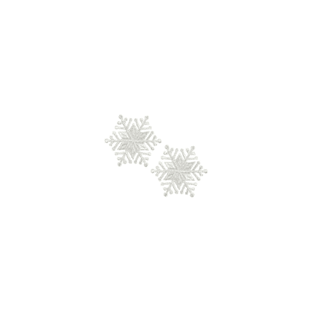 - Expo Int'l Christmas Medium Star Snowflake Iron-on Applique Pack of 2