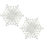 Expo Christmas Medium Star Snowflake Iron-on Applique Pack of 2