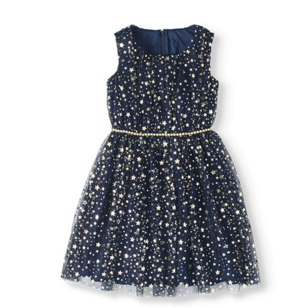Girls' 7-16 Foil Print Tulle Party Dress for $<!---->