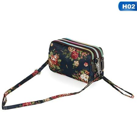 SHOPFIVE 3 Layer Wallet Bag Purse Zipper Clutch Phone Bag Credit Card