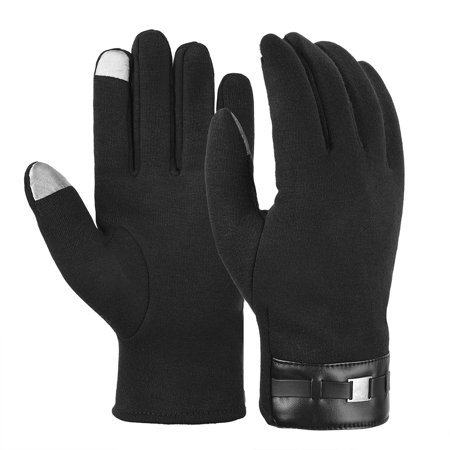 Vbiger Men Warm Gloves Winter Touch Screen Gloves Cold Weather Gloves Texting Mittens for Men (Winter Gloves For Men Mittens)
