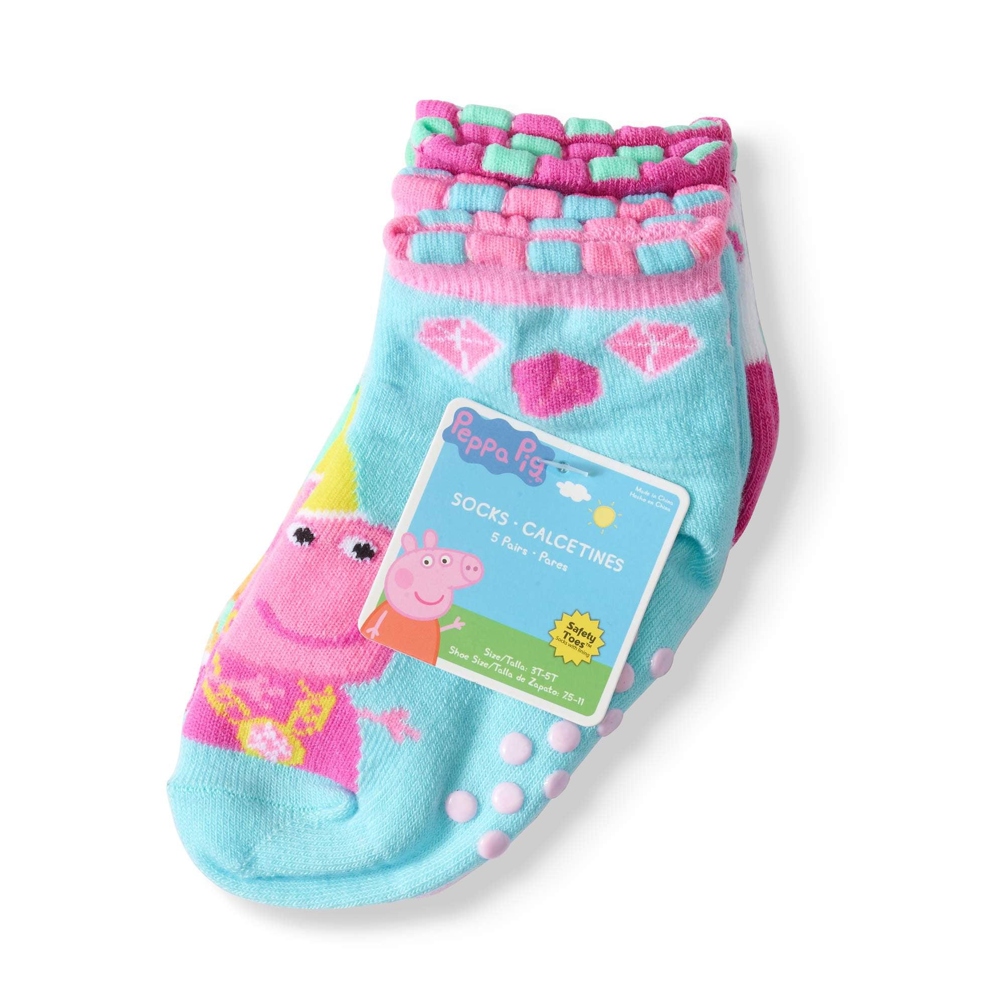 Toddler Girl Queen Peppa Quarter Socks, 5-pack